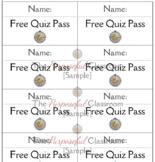 Free Quiz Passes