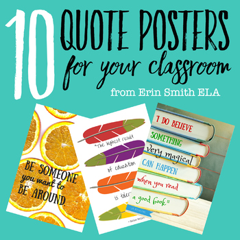 Free Quote Posters for Your Classroom