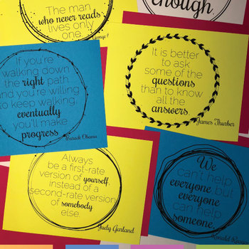 Quote Sheets Secondary Classroom Decor