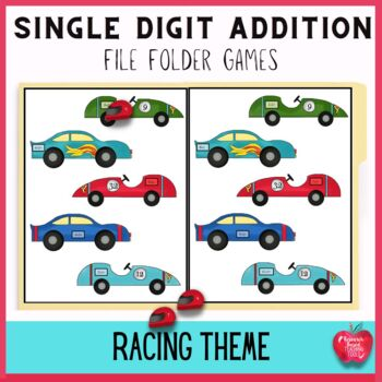 Free Race Day Adding Doubles File Folder Game!