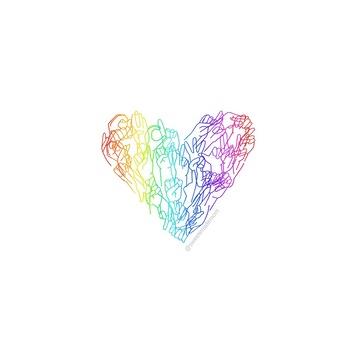 Free Rainbow ASL Alphabet Hands Printable Graphic