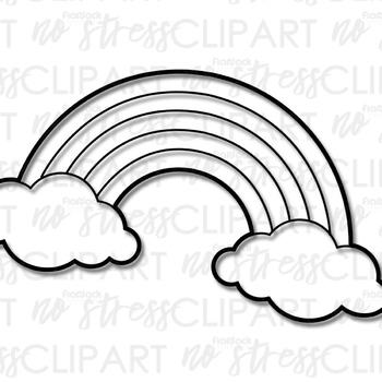 Free Rainbow Clip Art (Digital Use Ok!)