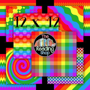 Free Rainbow Digital Paper Backgrounds
