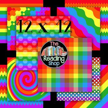 Free Rainbow Digital Papers
