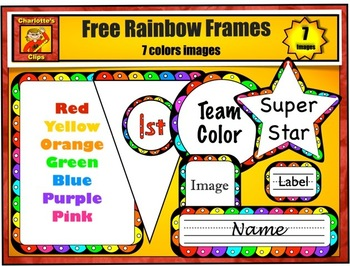 Free Rainbow Frame, Bunting, Name Plate, Labels and Star from Charlotte's Clips