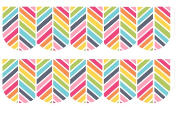 Free Rainbow Herringbone Bulletin Border Frame Printable