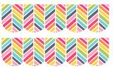 Free Rainbow Herringbone Bulletin Border Frame Printable