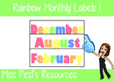 Free Rainbow Monthly Labels