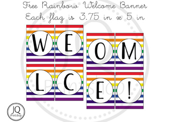 Free Rainbow Welcome Banner