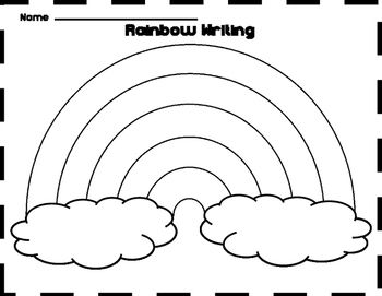 free rainbow writing template by the wisest owl tpt