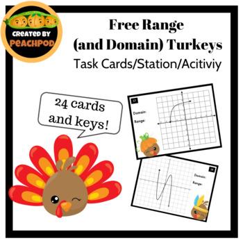 Free Range  (and Domain) Turkeys Task Cards/Activity/Station