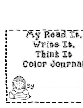 Free Read It, Write It, Think It Journal