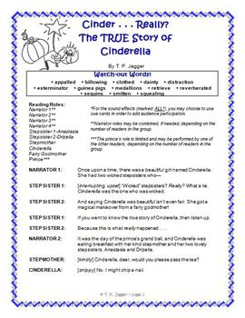 Free Readers' Theater Script ~ Cinderella Readers' Theater Fractured Fairy Tale
