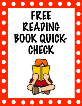 Free Reading Book Quick-Check Activity
