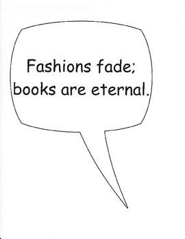 """Free Reading Bulletin Board """"Reading Is Fashionable"""""""