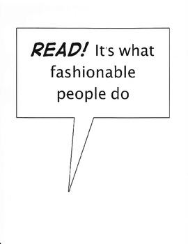 "Free Reading Bulletin Board ""Reading Is Fashionable"""
