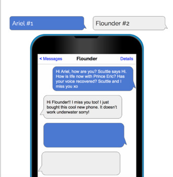 Free Reading Comprehension Character conversation text message!