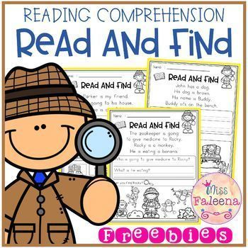 Free Reading Comprehension - Read and Find