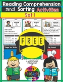 Free Reading Comprehension and Sorting Activities Set 1
