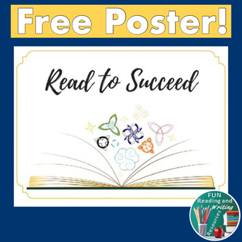 Free Reading Center Sign - Read to Succeed