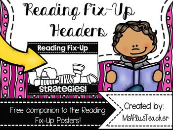 {Free} Reading Fix Up Poster Headers