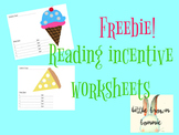 Free Reading Incentive Worksheets