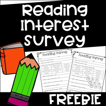 Free Reading Interest Survey {Back to School}
