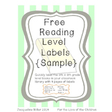 Free Reading Level Labels Sample