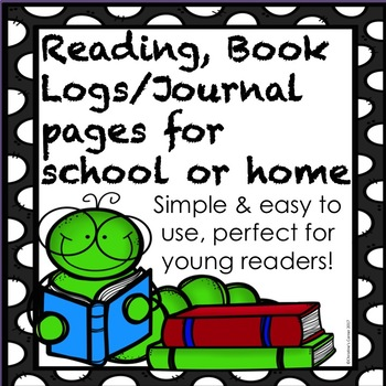 Free Reading Book Log Journal Easy Basic Form Young Students Elementary
