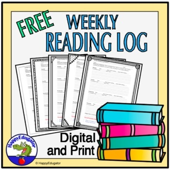 Reading Log - Free for Tracking Weekly Independent Reading