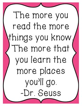 Free Reading Quote Poster