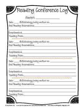 Free-Reading Workshop Assessment Forms
