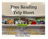 Free Reading Yelp Sheet  (reading log)