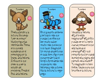 Free Reading bookmarks in Spanish