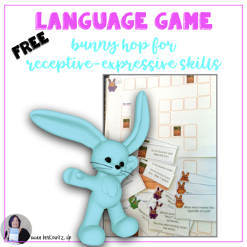 Free Receptive Expressive Bunny Hop Language Game sample speech therapy