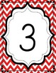 Free Red Chevron & Dot Number Charts to 20