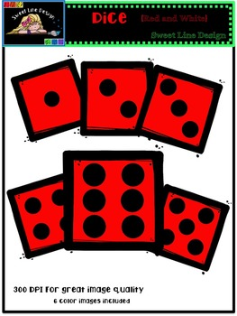 Free Red Dice Clipart {Sweet Line Design}