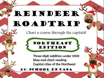 {Free} Reindeer Roadtrip! Math and Social Studies Center