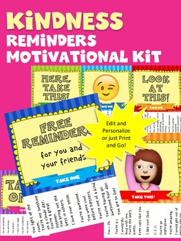 Kindness Reminders Motivational Kit