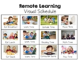 Free Remote Learning Visual Schedule