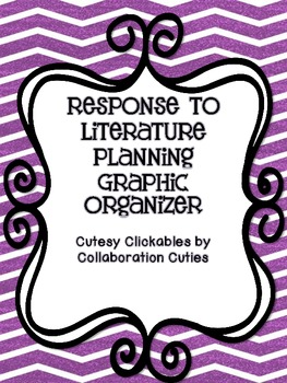 Free Response to Literature Writing Graphic Organizer