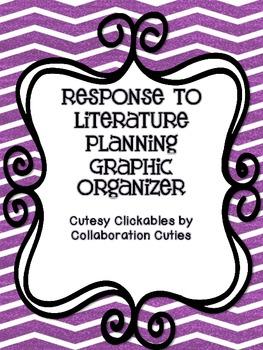Free Response to Literature Writing Graphic Organizer