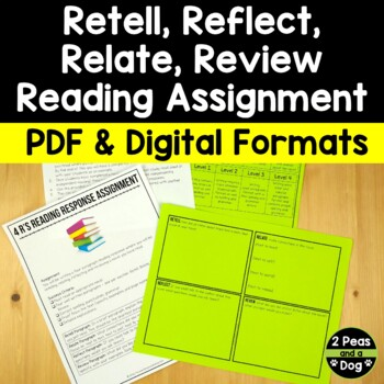 Retell, Relate, Reflect, Review Book Report Distance Learning