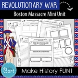 Boston Massacre Mini Unit: 7 Creative Activities {Revolutionary War}