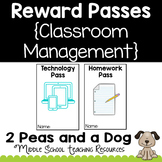 Classroom Reward Passes