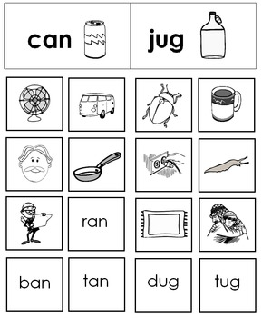 Free Rhyming Picture Sorting Center for Phonological Awareness--Morning Work!