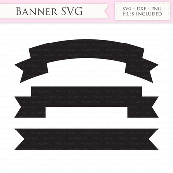 free ribbon banner svg files banner svg cutting files cricut and