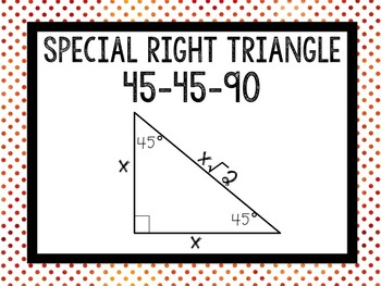 Free Right Triangles Word Wall Classroom Posters