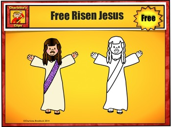 Free Risen Jesus Clip Art Sample by Charlotte's Clips From