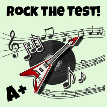 Free Rock the Test Poster for Your Classroom Decor During State Testing